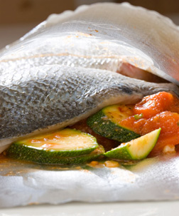 Baked Cod with Courgette